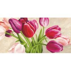 """Silvia Mei """"The Bouquet""""- Quadro Floreale su canvas di cotone al 100%"""