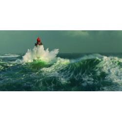 """Jean Guichard""""la Jument dans la tempete""""-Quadro con Stampa Fotografica d'Autore per Soggiorno o Camera"""