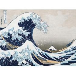 La grande onda - Hokusai Quadro Pronto con Stampa Fine Art per Soggiorno, Ufficio o altro