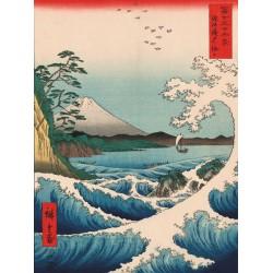Hiroshige Ando Mare a Satta Quadro Pronto con Stampa Fine Art