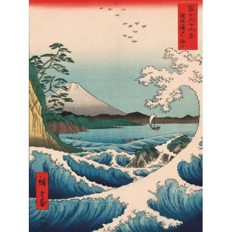 """Ando Hiroshige """" Sea at Satta"""""""