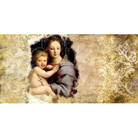 """Simon Roux """"Madonna del Candelabro (after Raffaello)"""" - Awesome on demand picture for up the headboard"""