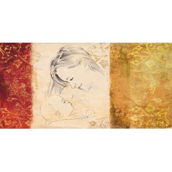 """Simon Roux """"Maternite' II"""" - Capezzale Moderno d'Autore su Canvas da Artigianato Veneziano"""