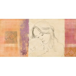 """Simon Roux """"Maternitè III"""" - Capezzale Moderno d'Autore su Canvas da Artigianato Veneziano"""
