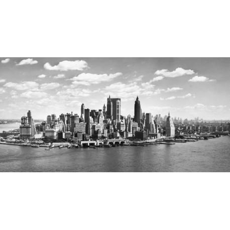 """Anonimo """"Costa di Manhattan"""" Quadro con Stampa Alta Risoluzione con New York in Misure Multiple e Grande Formato"""
