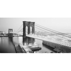 "Anonimo ""Brooklyn Bridge from Manhattan site, NYC"""