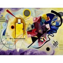 """Wassily Kandinsky """"Yellow, Red & Blue"""" Quadro Pronto con Stampa Fine Art per Soggiorno, Ufficio o altro"""