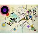 Wassily Kandinsky - Composition VIII Quadro Pronto con Stampa Fine Art per Soggiorno, Ufficio o altro