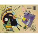 Wassily Kandinsky - Nero e Viola Quadro Pronto con Stampa Fine Art per Soggiorno, Ufficio o altro