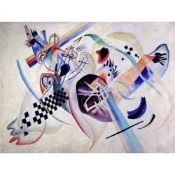 Wassily Kandinsky - Composition 224, on the White Quadro Pronto con Stampa Fine Art per Soggiorno, Ufficio o altro