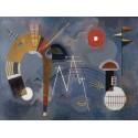 Wassily Kandinsky- Round and Pointed Quadro Pronto con Stampa Fine Art per Soggiorno, Ufficio o altro