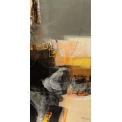 """Maurizio Piovan""""Nuovi incontri III"""" Quadro Astratto per Soggiorno o altro in Bianco e Nero, Stampa Fine Art su Tela Canvas"""