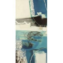 """Maurizio Piovan""""Un viaggio I"""" Quadro Astratto per Soggiorno o altro in Bianco e Nero, Stampa Fine Art su Tela Canvas"""