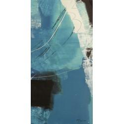 """Maurizio Piovan""""Un viaggio III"""" Quadro Astratto per Soggiorno o altro in Bianco e Nero, Stampa Fine Art su Tela Canvas"""