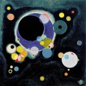 Kandinsky Wassily -Sketch for several circles. Classic Abstract, Hard to find Masterpiece for Home Decor