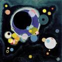 "Kandinsky Wassily""Sketch for several circles""-Poster,Canvas o Quadro pronto Originale.Misure a scelta"
