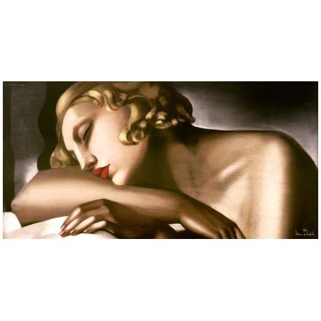 """De Lempicka """"Dormeuse"""" - Capezzale Moderno d'Autore su Canvas da Artigianato Veneziano"""