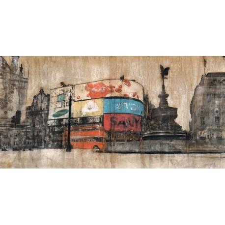Dario Moschetta - Piccadilly circus. Quadro con Stampa Alta Risoluzione con New York in Misure Multiple e Grande Formato