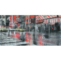 """Dario Moschetta - """"Times Square 2"""". Quadro con Stampa Alta Risoluzione con New York in Misure Multiple e Grande Formato"""