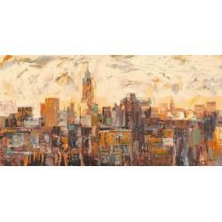 """Luigi Florio - """"Mattino a New York"""". Quadro con Stampa Alta Risoluzione con New York in Misure Multiple e Grande Formato"""