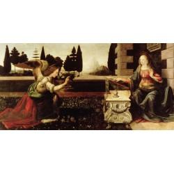 """Leonardo Da Vinci""""Annunciazione"""" - Capezzale Moderno d'Autore su Canvas da Artigianato Veneziano"""
