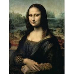 Leonardo Da Vinci - Monna Lisa - Quadro Pronto con Canvas Originale ad Alta Risoluzione