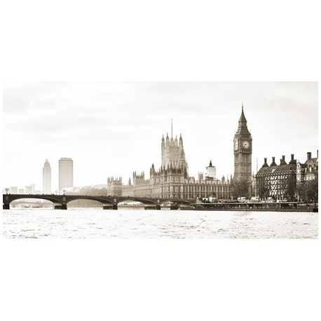 View of the Houses of arliament and WestminsterBridge, London-Frank Helena