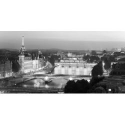 Parigi di notte- M. Setboune foto stampa Alta Risoluzione