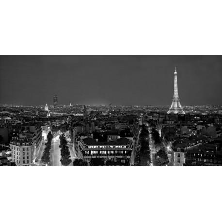 Panorama di Parigi di notte, Vadim Ratensky. Stampa Alta Risoluzione