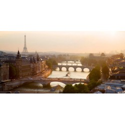 Bridges over the Seine River,Parigi. High quality Print