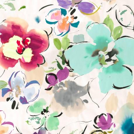 Floral Funk II-Kelly Parr Quadro con Tulipani Bianchi Romantici - Stampa d'Autore su Tela Cotone per Soggiorno o altro