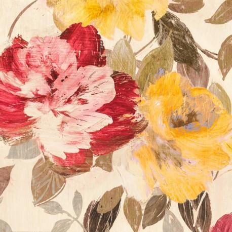 Velvet Lovers I - Kelly Parr. Quadro con fiori romantici - Stampa d'Autore su Tela Cotone per Soggiorno o altro