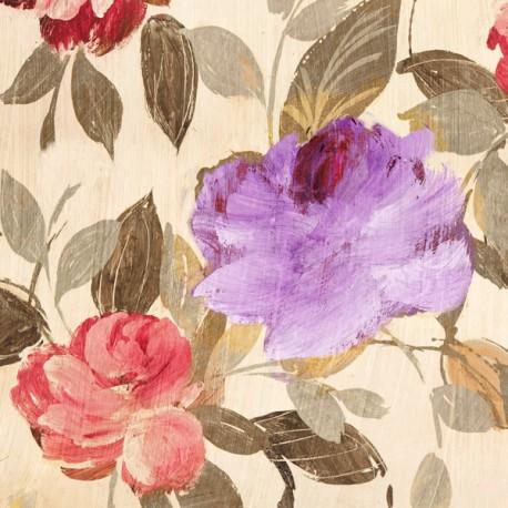 Velvet Lovers II - Kelly Parr. Quadro con fiori romantici - Stampa d'Autore su Tela Cotone per Soggiorno o altro