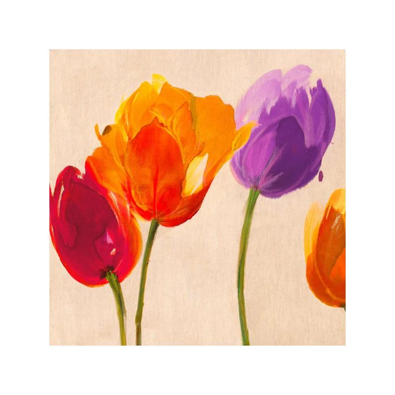 Stampa da Tela Shabby con Tulipani colorati Soggiorno Ingresso Cucina