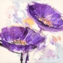 Rugiadai - Luigi Florio Picture with lila poppies on high quality print