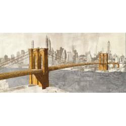 """Joannoo-""""Ponte di Brooklyn"""".Quadro Moderno in Misure Multiple per Soggiorno o Camera"""
