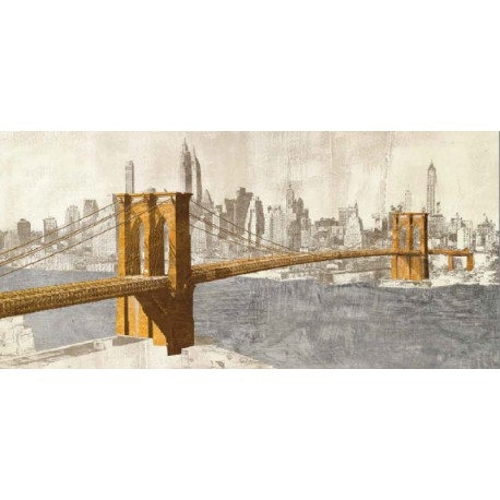 "Joannoo-""Brooklyn Bridge"" - famous bridge view in a new pop art style version"