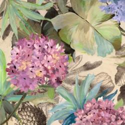 Pink Hydrangeas - Eve C. Grant. Quadro con Tulipani Bianchi Romantici - Stampa d'Autore su Tela Cotone per Soggiorno o altro