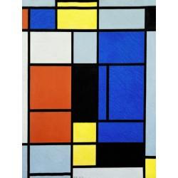 Mondrian-Tavola 1,Stampa Museale d'Autore Fine Art su Carta o Tela con Misure Varie