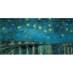 """Van Gogh""""Starry night""""-Stampa d'Autore con Misure a Scelta e su Supporti Diversi"""