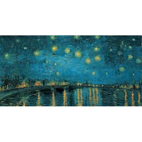 """Van Gogh""""Notte stellata""""-Stampa d'Autore con Misure a Scelta e su Supporti Diversi"""