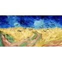 """Van Gogh""""Wheat Field with Crows""""-Stampa d'Autore con Misure a Scelta e su Supporti Diversi"""