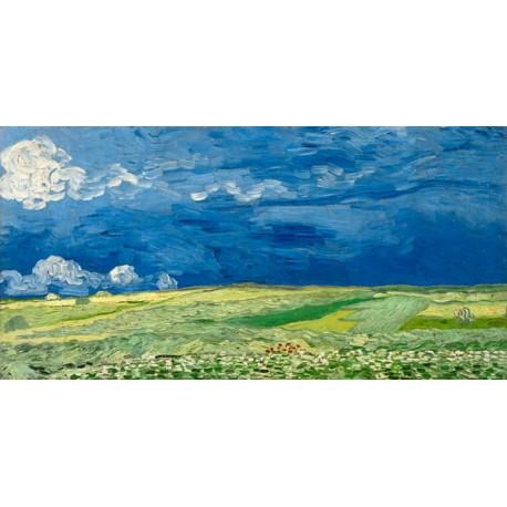 """Van Gogh""""campo sotto il temporale""""-Stampa d'Autore con Misure a Scelta e su Supporti Diversi"""