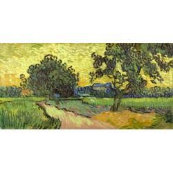 """Van Gogh""""Paesaggio all'imbrunire""""-Stampa d'Autore con Misure a Scelta e su Supporti Diversi"""