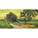 """Van Gogh""""landscape at twilight""""-Stampa d'Autore con Misure a Scelta e su Supporti Diversi"""