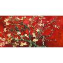 """Van Gogh""""Mandorlo in Fiore""""red variation-Stampa d'Autore con Misure a Scelta e su Supporti Diversi"""