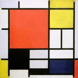 Mondrian-Linee e Colori,Stampa d'Autore Originale con Supporti e Misure Personalizzate