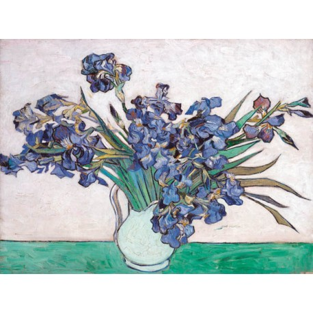 """Vincent Van Gogh""""Iris I""""-Stampa ad Alta Risoluzione su Supporti Diversi con Misure a Scelta"""