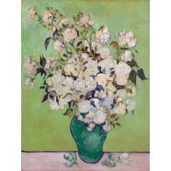 """Vincent Van Gogh""""Roses""""-Stampa ad Alta Risoluzione su Supporti Diversi con Misure a Scelta"""