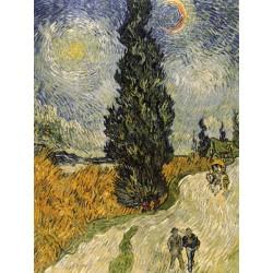 """Vincent Van Gogh""""cipressi""""-Stampa ad Alta Risoluzione su Supporti Diversi con Misure a Scelta"""